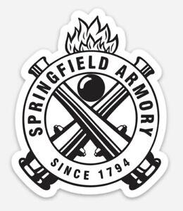 Springfield Armory Custom Logo Die Cut Magnet for Fridge or Toolbox Firearms Gun