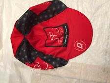 BULVELO CYCLING TOURS CYCLING CAP ONE SIZE RED AND BLACK