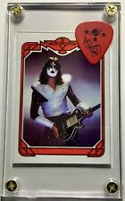 KISS Ace Frehley #'d Art card / guitar pick from last tour display-only 25 Exist