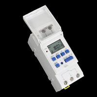 Digital LCD DIN programable semanal temporizador carril AC 220V 16A Interruptor