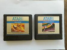 Pair / 2 Vintage Atari 5200 Video Games Galaxian & Super Breakout !