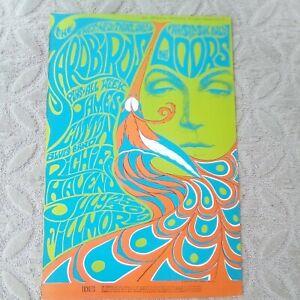 YARDBIRDS DOORS BG 75-2 FILLMORE Concert poster BONNIE MacLEAN