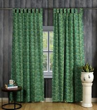 Indian Floral Print Curtain Tab Top Tapestry Curtains Window Bohemian Valance
