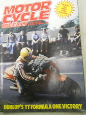 Motor Cycle Weekly Magazine, June 11, 1983, Dunlop's TT Formula One,  Blue box 2