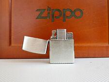 Original Zippo chrome brushed ohne insert/Einsatz + Gaseinsatz Jetflame Z-Plus