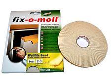 6 m Wollfilz-Band Selbstklebend zum Dämmen von Türen oder Schubladen  (0,64€/m)