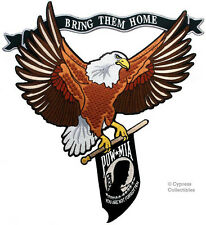 BALD EAGLE EMBROIDERED PATCH POW MIA FLAG VIETNAM VET IRON-ON WAR veteran LARGE