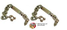 3 POINT HITCH STABILZER CHAIN PAIR YANMAR / JOHN DEERE / KUBOTA TRACTOR 24""