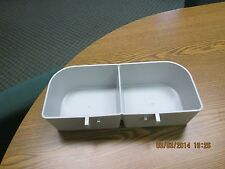 Dog , cat, rabbit crate dish double feeder food water ,plastic size XL