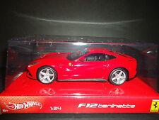 Hot Wheels Ferrari F12 Berlinetta Rojo 1/24