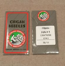 ORGAN UNIVERSAL SEWING MACHINE NEEDLES 75/11 10 PCS
