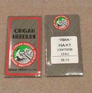 ORGAN UNIVERSAL SEWING MACHINE NEEDLES 75/11 10 PCS