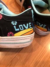 Converse All Star LOVE & PEACE Athletic Fashion Sneakers Womens Shoes Size 8.5 @