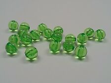 Transparent Acrylic Beads, Round, Sea Green, about 8mm, Hole 2mm  Qty 50 Beads
