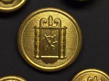 Vintage Rare SCISSORS & THREAD Blazer 10 Buttons Set Gold Tone Metal