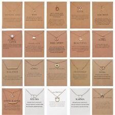 Mujer Collar Corazón Colgante Oro Cadenas De Clavícula Gargantilla tarjeta Joyería Regalos