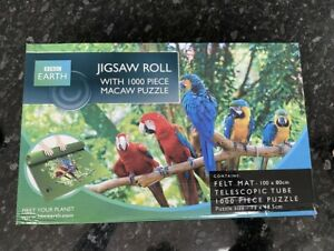 BBC earth ~ Jigsaw Roll With 1000 Piece Jigsaw Puzzle ~  MACAW Puzzle ~ Complete
