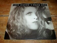 "LONE JUSTICE / Maria McKee Steve Van Zandt PROMO 12"" ( I FOUND LOVE ) # PRO 2645"
