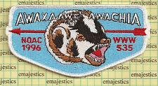 BSA OA LODGE 535 AWAXAAWE AWACHIA NOAC 1996 FLAP ISSUE S-4