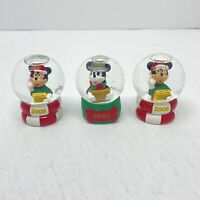Disney Mickey Mouse Mini Snow Globe Lot Of 3 JCPenney Christmas 2006 x2 & 2005