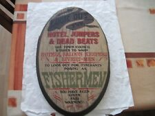 """VINTAGE Wood Wall Hanging  Sign by YORKRAFT INC., """"Look Out For Hotel Jumpers .."""