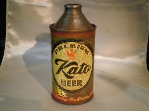 Vintage Kato Cone Top Beer Can