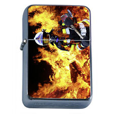 Firefighters D13 Windproof Dual Flame Torch Lighter Refillable Heros
