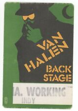 RARE Van Halen Green Unused 1984 Indy Working Backstage Pass!