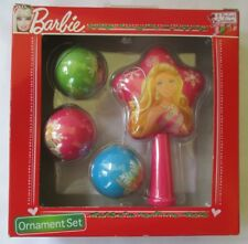"BARBIE ""A PERFECT CHRISTMAS"" 2011 ORNAMENT SET - NEW"