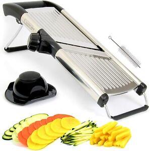LUVEH - Mandolina Tagliaverdure Professionale da Cucina in Acciaio Inox.