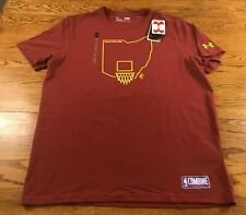 Under Armour Cleveland Cavs NBA Combine Training T Shirt Adult XL NWT