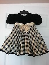Youngsport Black Velvet and Gold Toddler Party Dress