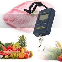 40kg/10g Mini Portable Digital Luggage/Fishing Hook Hanging Weight Scale LCD