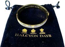 Halcyon Days English Salamander Ivory Enamel Hinged Bracelet In Original Bag!