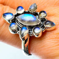 Rainbow Moonstone 925 Sterling Silver Ring Size 10 Ana Co Jewelry R25195F