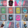 Small Pet Dog Clothes Shirt Vest Cartoon Cat Kitty Puppy Summer Apparel Costume