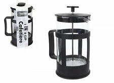 1 Litre 35oz 6 Cup Home Kitchen Tea Ground Coffee Cafetiere Filter Jug