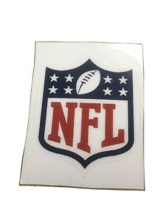 NFL SHIELD DECAL, Full Size ,PLAYER HELMET , AUTHENTIC