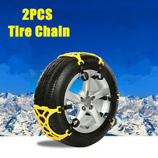 2x Tire Snow Chains Coche Truck Llantas Cadenas de nieve Belt neumático Rueda