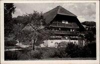 Bauernhaus Farmer House im Schwarzwald Black Forest alte Postkarte um 1950