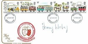 Tommy WISBEY Great Train ROBBERY SIGNED FDC 2 AFTAL Autograph RARE Genuine COA
