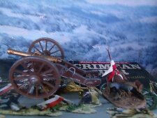 King & Country  CRIMEAN WAR 1854-56  RUSSIAN CANNON WITH DEAD GUNNER   CRW07