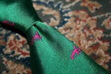 Polo Ralph Lauren Pink Lobster & Green Woven Silk Tie Italy