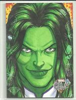 2016 Upper Deck Marvel Gems Base Sketch Card She-Hulk by Nathan Nelson