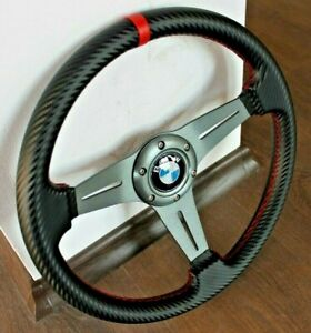 Steering Wheel BMW Carbon Leather Sport  E21 E24 E28 E30 E34 E36 Z3 1974-1991