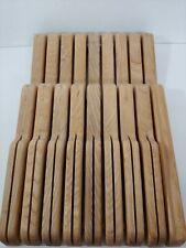 J.K. Adams large16 slot In-Drawer Wooden Knife Block sharpening steel Holder