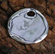 Artisan Disc Charm in Sterling Silver 300, (ONE)
