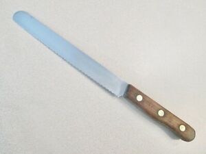 """VINTAGE CHICAGO CHERRYWOOD CT7-7"""" BREAD KNIFE-FREE SHIP IN THE USA"""