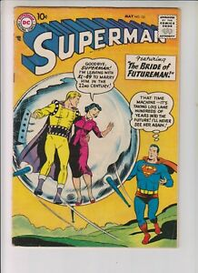 "Superman 121 VG+ (4.5) 5/58 ""The Bride of Futureman!"""