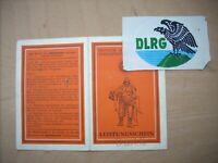 DLRG - Leistungsschein 1937 - Haenschke  Berlin-Spandau mit Abzeichen